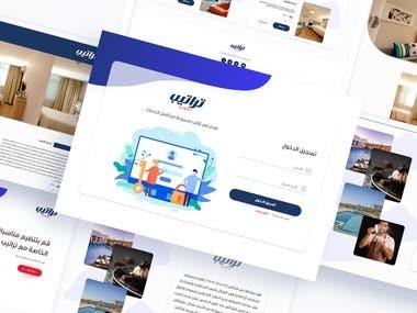 Trateeb Events Website | UI/UX design