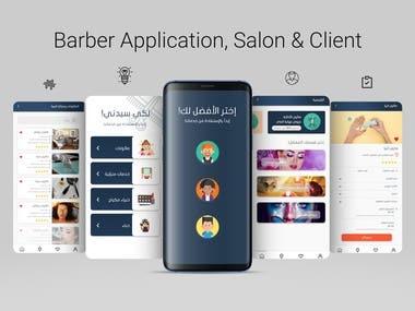 UI/UX design for Barber Application