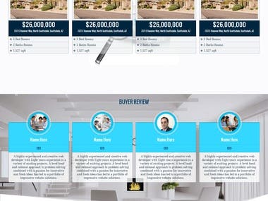 Real Estate Agent Website Design