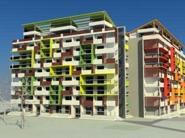Reconstruction of a prefab panel residential building
