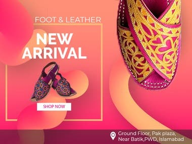 Banner Design of Footwear Brand