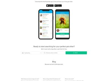 Pet Marketing Site