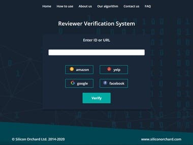 Reviewer Verification System www.isreviewfake.com