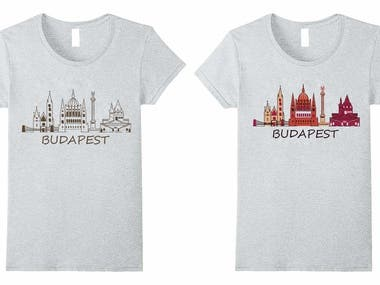 Budapest city Drawing Winning Design
