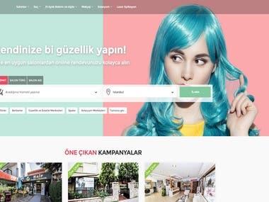 Beauty website.