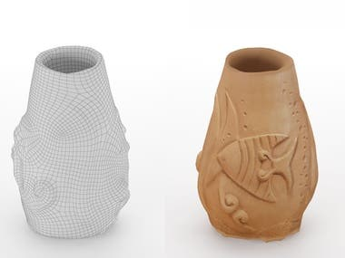 Retopology 3d scanned vase