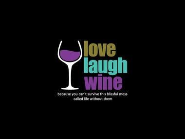 Love Laugh Wine - Logo