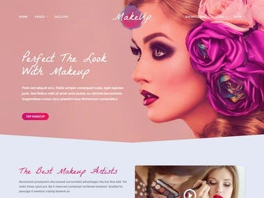 Makeup Artist WordPress Website