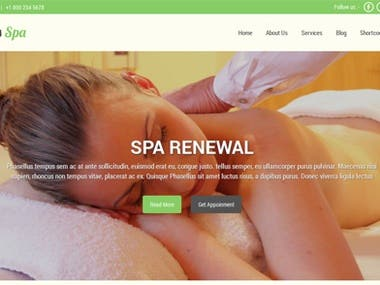 Massage parlours and salons website
