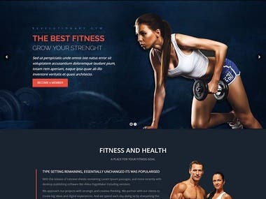 WordPress Gym website