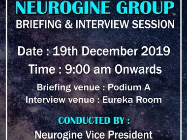 Neurogine Group Briefing and Interview Session