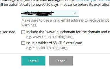 SSL installtion