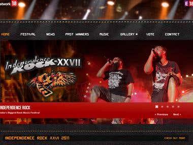 Independence Rock - Rock Band Website
