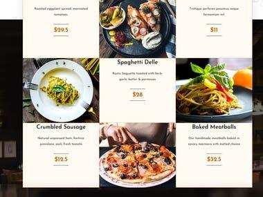 Restaurant website design in wordpress