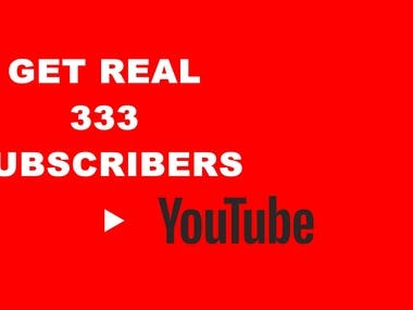 Provide You Real 333 YouTube Subscribers