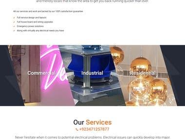 WordPress Electrical Website