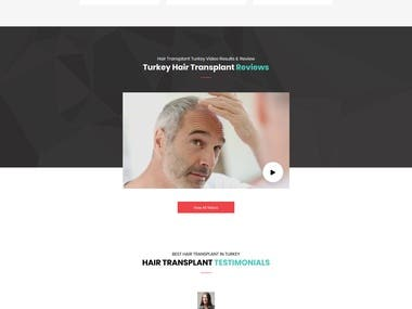 Hair Transplant Website