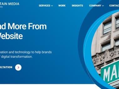 UX/UI Blue fountain media
