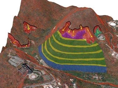 3D model for landslide risk assessment