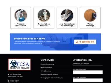 Certified in Biohazardous Cleanup Website Using WordPress