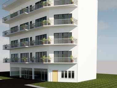 5 Story building design and rendering