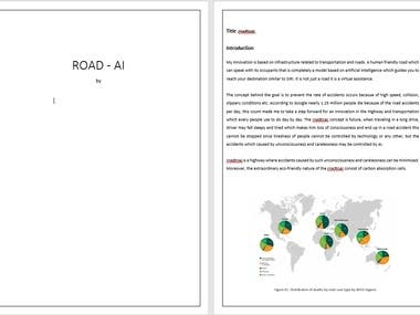 AI road construction with virtual assistance.