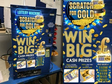 Arts for scratch ticket dispensing machines