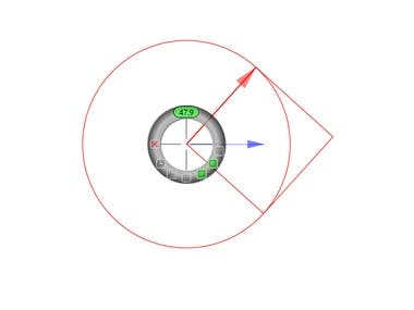Desktop Screen Overlay Protractor Tool