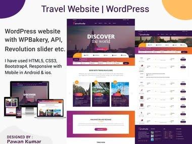 Travel Website   WordPress