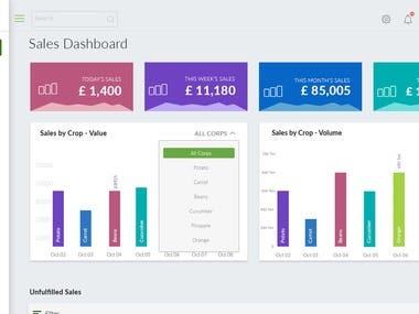 Farming Web App Dashboard UI