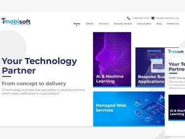 Modern Technology Website UI design