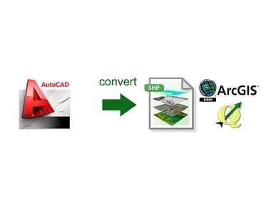 Convert AutoCAD files to Shapefiles (ESRI, QGIS)