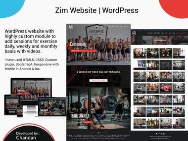 Zim Trainer Website in Wordpress