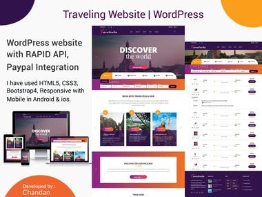 Trevel website in Wordpress with Rapid and Paypal APi