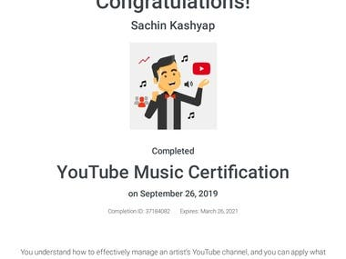 Youtube Music Certification
