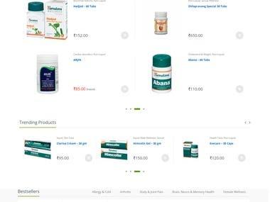 E-commerce/Online store based on Woocommerce.