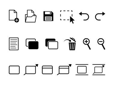 Toolbar Icons for RapidFSM Desktop Application