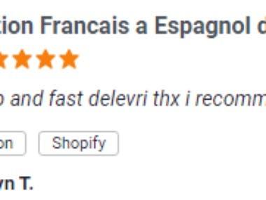 French to Spanish translation of my shopify