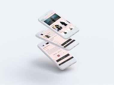 E-commerce application IU/UX design