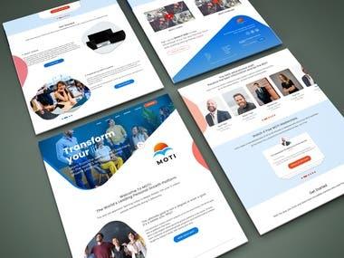 UI/UX design for MOTI website