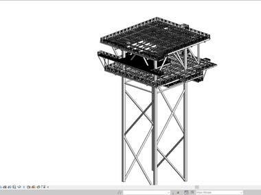 Oil Rig 3D Modelling