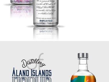 Label design for Distillery of Åland Islands