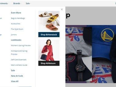 Online Shop Sites (using Laravel, Wordress, React, Vue)