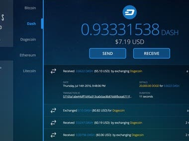 Cryptocurrency Wallet and Investment Site