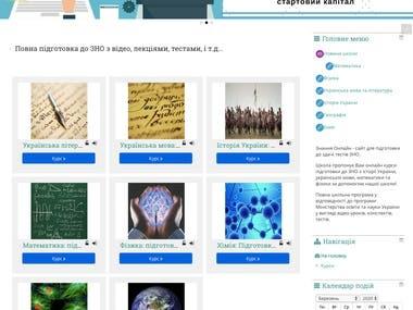 Znaniya Moodle Website