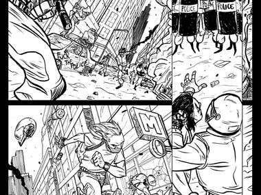 Black Block comics page