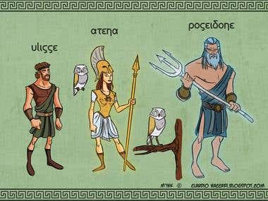 Ulysses, Athena and Poseidon