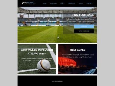Pro Soccer - Web Template