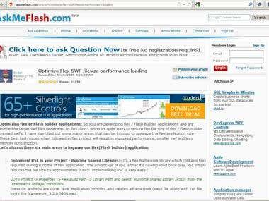 Optimize Flex SWF filesize performance loading