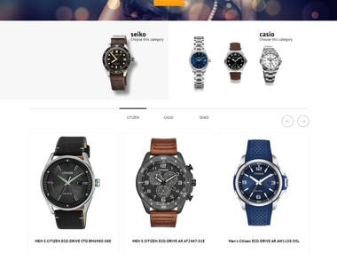 Watch Seller Website Development